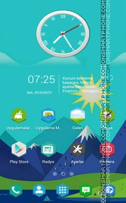 Landscape v1 theme screenshot