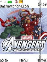 Avengers Assemble tema screenshot