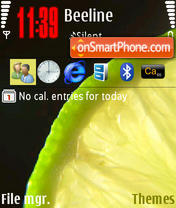 Lime 01 tema screenshot