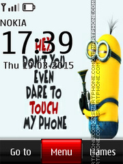 Dont Touch My Phone 04 es el tema de pantalla