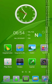 Green Experience tema screenshot