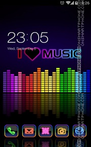 I love music tema screenshot