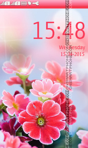 Bokeh Bright Flowers theme screenshot