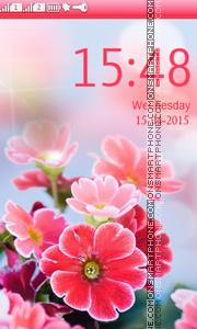 Скриншот темы Bokeh Bright Flowers