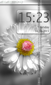 White Flower theme screenshot