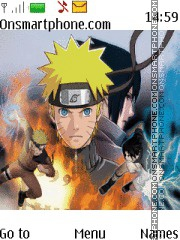 Naruto vs Sasuke theme screenshot