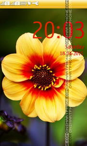 Yellow Flower theme screenshot