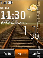 Railway and Live Clock theme screenshot