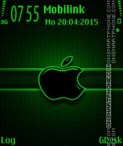 Green black apple tema screenshot