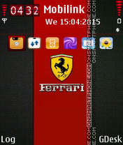 Ferrari logo tema screenshot