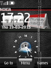 Nokia Dual Clock 12 theme screenshot