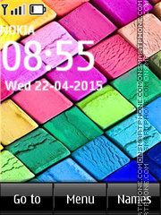 Colored Chalks tema screenshot
