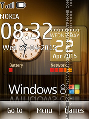 Windows 8 Clock 01 tema screenshot