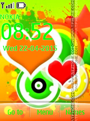 Colorful Hearts 05 tema screenshot