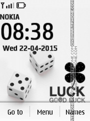 Good Luck Animated tema screenshot