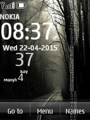 Alley Road Side Clock theme screenshot