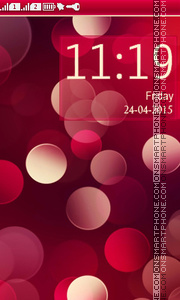 Red Circle tema screenshot