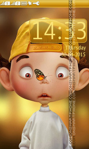 Boy and Butterfly tema screenshot