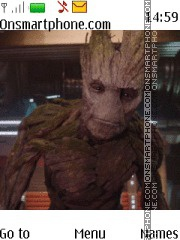 Guardans of the Galaxy Groot theme screenshot