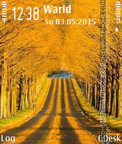 Yellow path theme screenshot