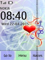 Love Abstract Colours tema screenshot