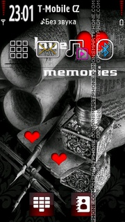 Love Memories and Letter theme screenshot