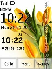 Tulip Clock 02 tema screenshot