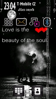 Love is Soul theme screenshot