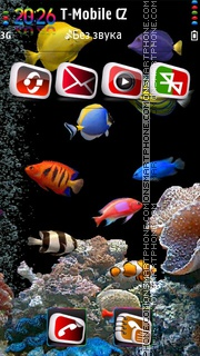 Aquarium HD 02 tema screenshot
