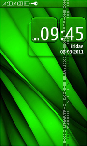 Green Abstraction 01 theme screenshot