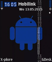 Blue android tema screenshot