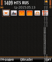 Orange Style theme screenshot