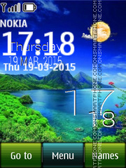 Vietnam Landscape with Clock theme screenshot