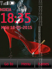 Glamorous High Heel Shoes tema screenshot