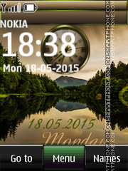 Pond Dual Clock theme screenshot