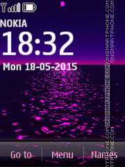 Purple Sunset 02 theme screenshot
