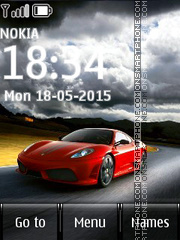 Ferrari Car 01 theme screenshot