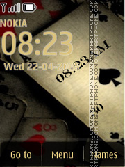 Old Poker Clock tema screenshot