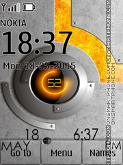 Techno Clock 01 tema screenshot