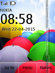 Colorful Umbrellas theme screenshot