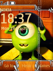 Monsters Inc 01 theme screenshot