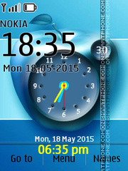 Apple Clock 02 tema screenshot