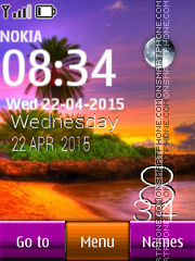Resort Tropical Clock theme screenshot