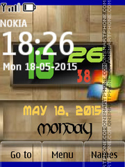 Windows Clock 04 es el tema de pantalla