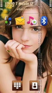 Emma Watson Portrait theme screenshot