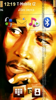 Bob Marley 16 theme screenshot