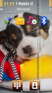 Cute Sleepy Puppy tema screenshot