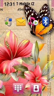 Flowers And Butterfly Theme-Screenshot