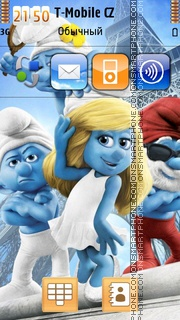 Smurfs 2 theme screenshot
