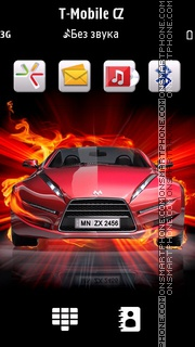 Fire Car 08 tema screenshot